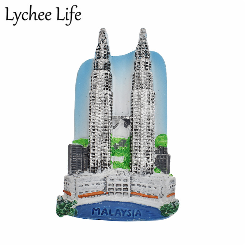 Lychee Life Malaysia Fridge Magnet Friend Travel Souvenir Resin  Refrigerator Magnetic Sticker Kitchen Home Decorative Stickers-in Fridge  Magnets from