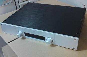 BZ4307G silver front Full aluminum amplifier enclosure  chassis/AMP box 430*70*308mm