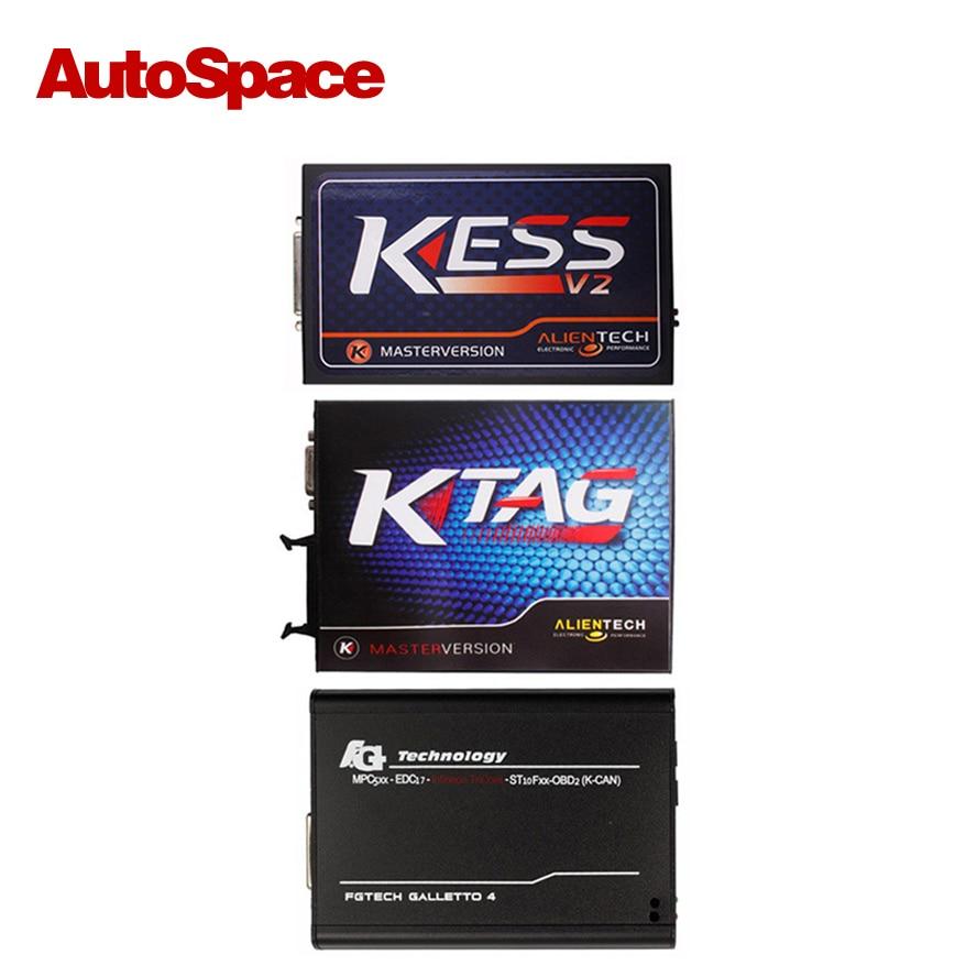 Цена за Нет Жетоны KTAG KESS V2 V2.13 V2.23 V54 FGTech Galletto 4 Мастер ECU Чип-Тюнинг Программист K TAG V6.070 V4.036 Полный Набор DHL Новый