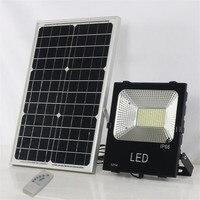 200 W Светодиодный Солнечный прожектор с удаленным Управление открытый Водонепроницаемый IP66 для сада газон пейзаж уличный фонарь