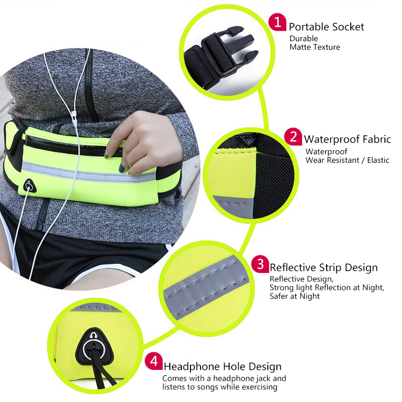 Men Women Running Waist Bag Waterproof Mobile Phone Holder Jogging Sports Running Gym Fitness Bag Lady Sport Accessories 13
