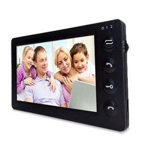 Image 4 - Dragonsview 7 Cal przewodowy wideodomofon domofon do drzwi System czarny rekord 1000TVL wykrywanie ruchu odblokuj kartę SD