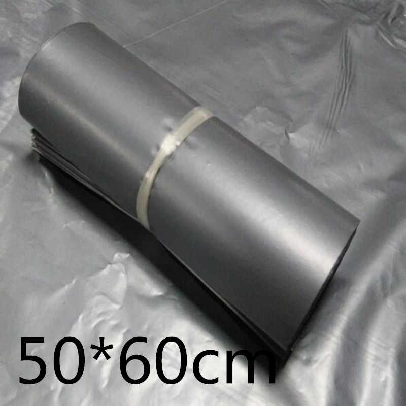 Sliver 50*60cm Poly Self-seal Mailbags Plastic Courier Destructive Poly Mailing Plastic Bags Express Mail Bag