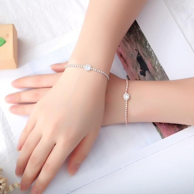 Купить модные браслеты белого цвета с кубическим цирконием для женщин картинки