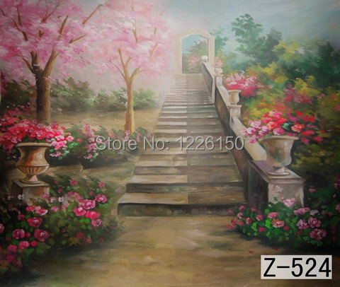 Mysterious scenic Backdrop z-524,10ft x20ft Hand Painted Photography Background,estudio fotografico,backgrounds for photo studio spring scenic backdrop 013 10ft x20ft hand painted muslin photography background estudio fotografico photo studio backdrop
