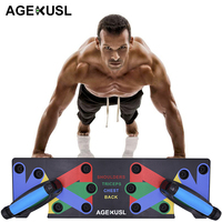 AGEKUSL Push Up Rack Board 9 System Men Women Comprehensive Fitness Exercise Workout Push up Stands Body Building Training Gym