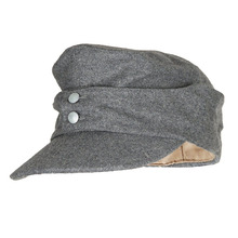 5dc34e2a77a WWII WW2 GERMAN MILITARY ARMY EM PANZER M43 M1943 FIELD WOOL CAP GREY IN  SIZES