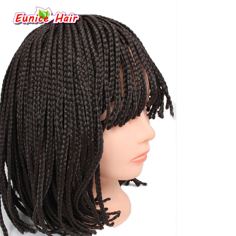 Short Synthetic Lace Front Wigs 10inch Natural Black Brown Box Braid Wig Bob For Women In None From Hair