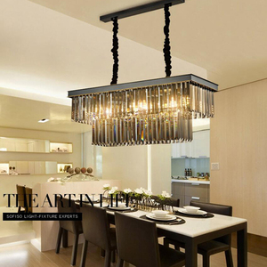 Image 2 - Dining Table Dining Lamp Chandelier Chandelier Crystal Rectangular Creative Personality Dining Room Lamp Bar Modern Chandelier
