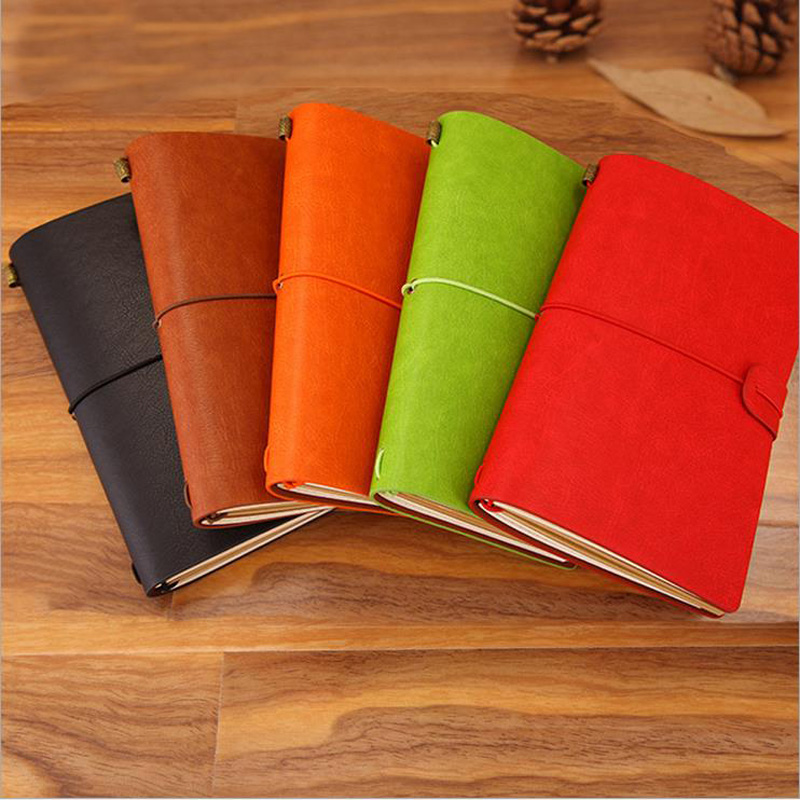 1pc 6 Colors Imitation Leather Bound Sketchbook Bullet journal Cute Notebook paper Weekly Planner Accessories Stationery 01642 все цены