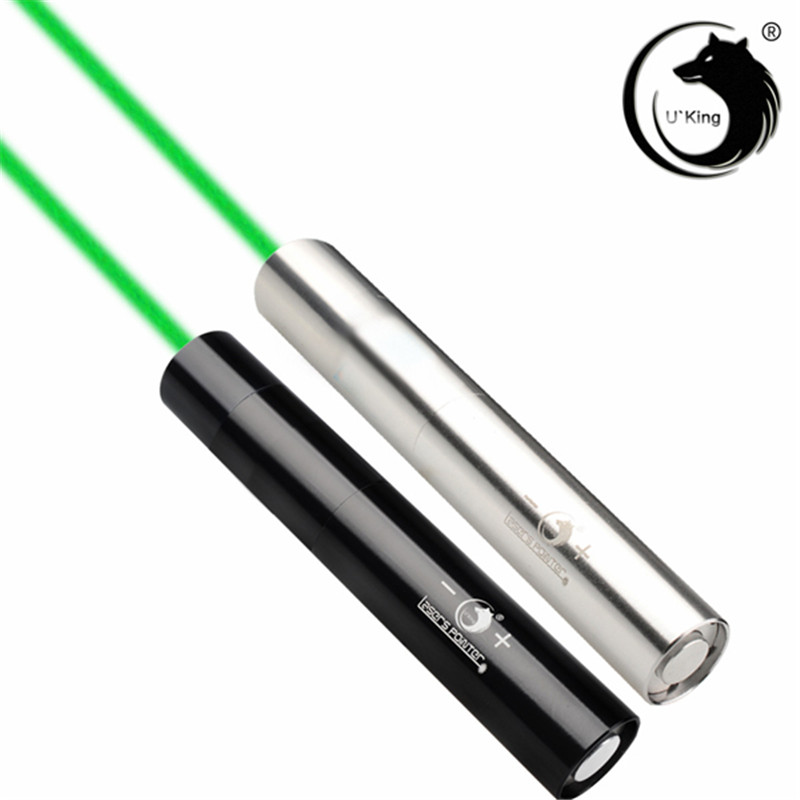 U King ZQ-J10L Sliver 520nm Green Light Powerful Laser LED Light Flashlight Suit EU Charger+16340 Battery u king zq g008 xpe q5 18650 800lm zoomable led flashlight