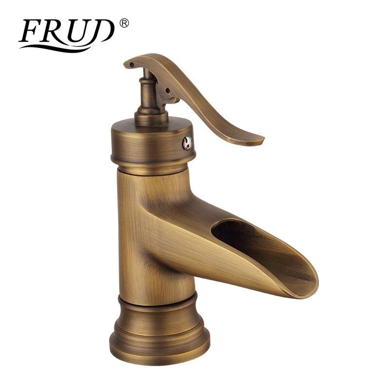 FRUD laiton Bronze mitigeur commande Antique Robinet cuisine salle de bains bassin mitigeur Robinet Antique évier bassin Robinet Y10073