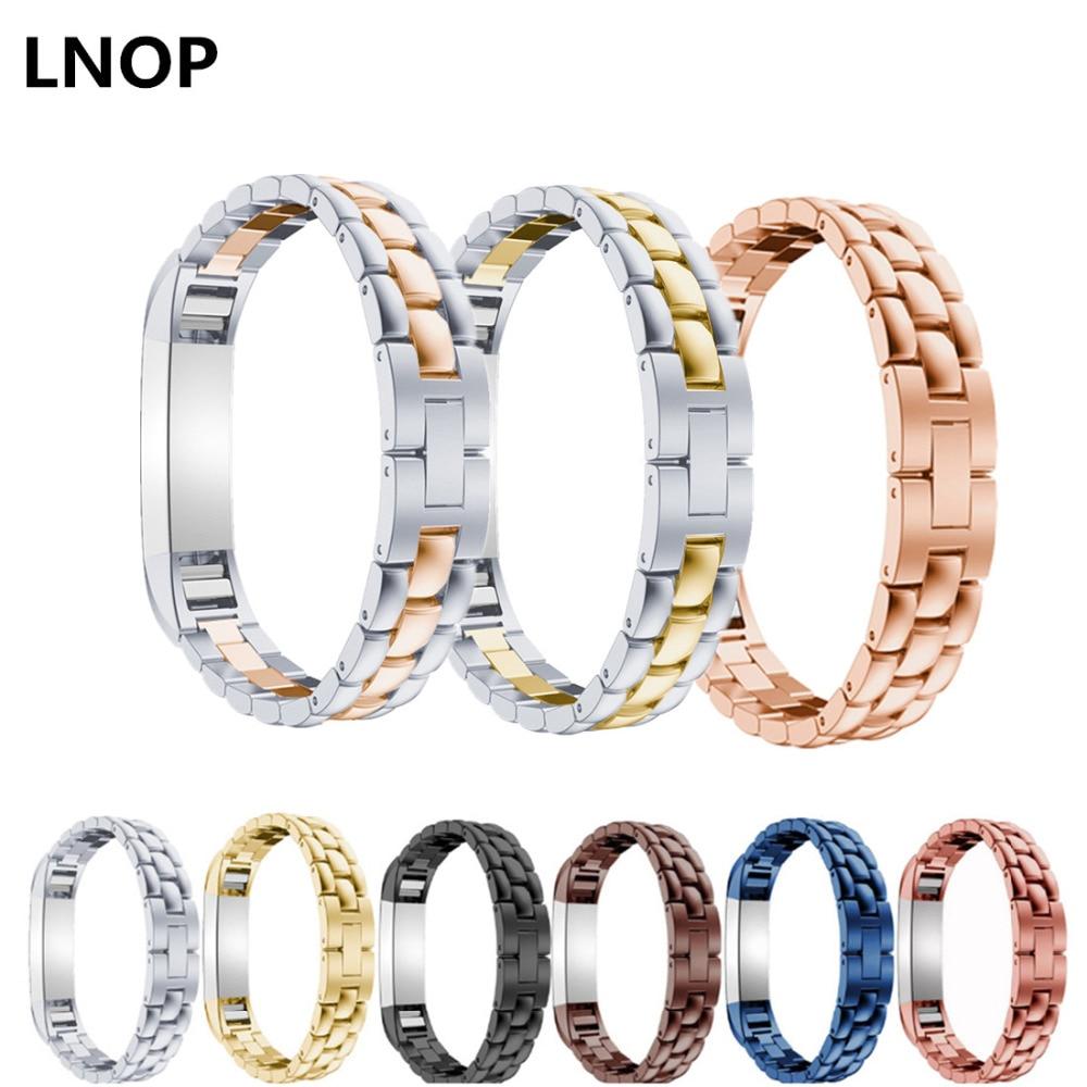 LNOP del cinturino di Vigilanza per fitbit alta/HR banda di ricambio in acciaio inox metallo cinturino di vigilanza del braccialetto del polso cintura per fitbit alta HR