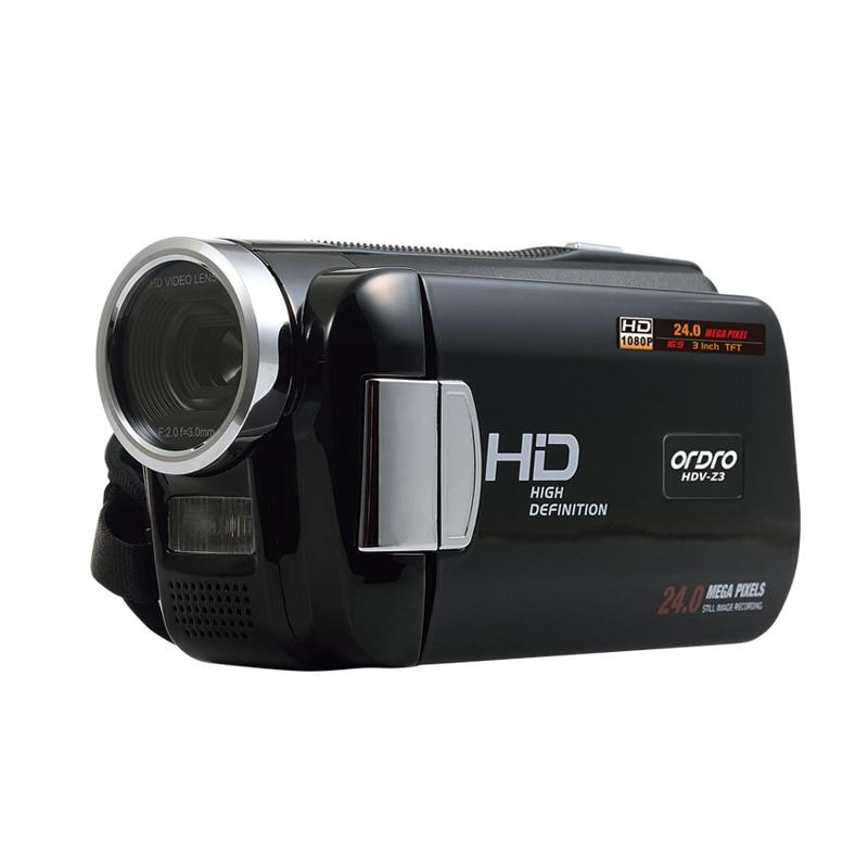 ORDRO HDV-Z3 1080P  HD Digital Video Camera 24MP 4x Zoom 3.0 HD Screen 5MP CMOS DV HDMI Output Free shipping
