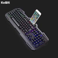 104 Keys English Wired USB Gamer Keyboards Metal Panel Colorful Breathing Waterproof Computer Gaming Keyboard For Tablet Desktop