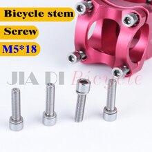 лучшая цена 6Pcs Bicycle stem Riser Screw M4 * 18MM MTB Road bike Fixed Gear Folding Bike Bicycle stem riser screws  Steel material