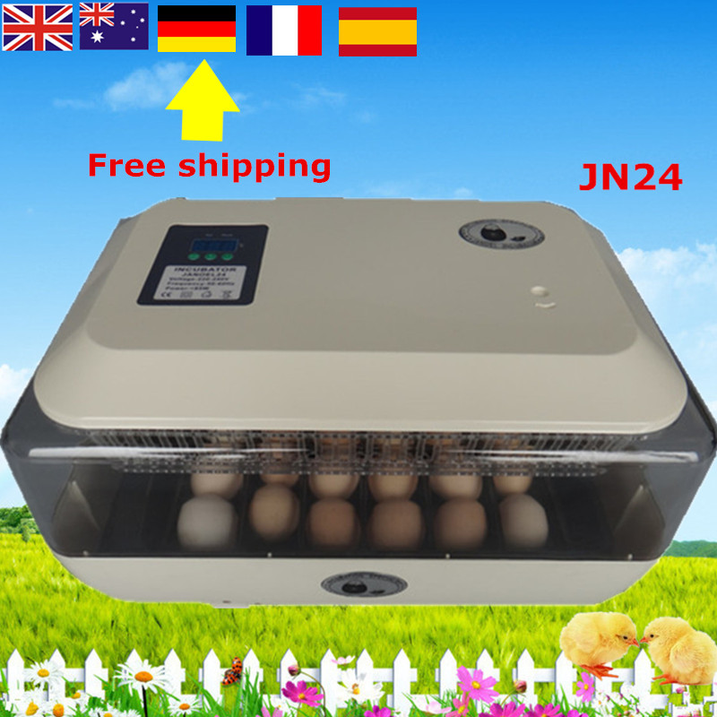24 Eggs automatic LED display quail duck chicken poultry hatcher quail incubadora duck egg incubator ключницы petek 2543 46b kd1