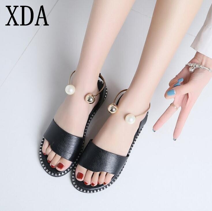 Verano Antideslizante Negro Casual Sandalias Zapatos Beige Perla PXiZuk