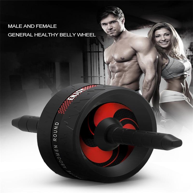 Abdominal Exercise Wheel Exerciser Metal Roller Core Trainer Waist No Noise Roller Arm Strength Exercise Fitness Equipment