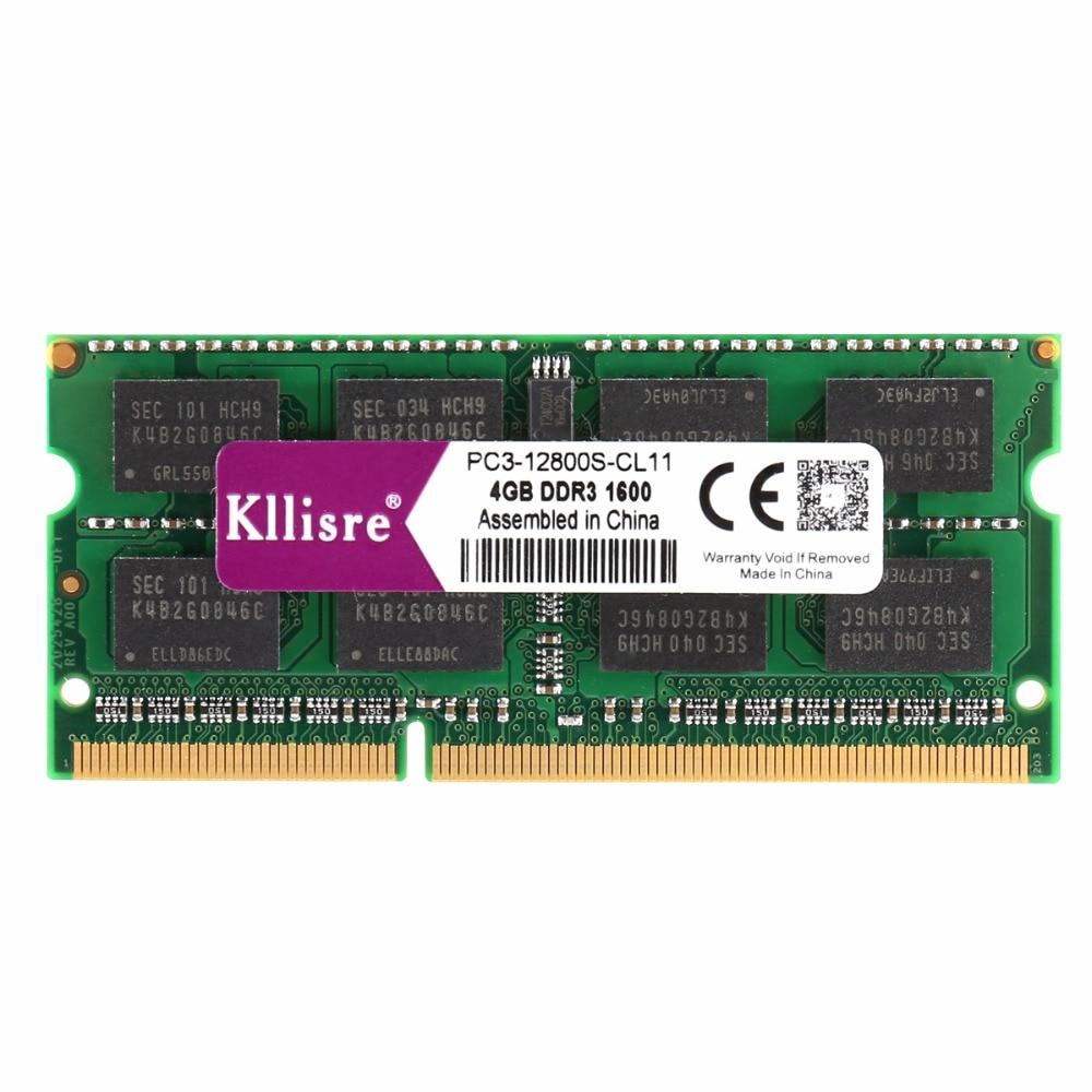 Kllisre Laptop Memory Sodimm Notebook Ram DDR3 1600mhz 1333mhz 8GB 204pin 4GB