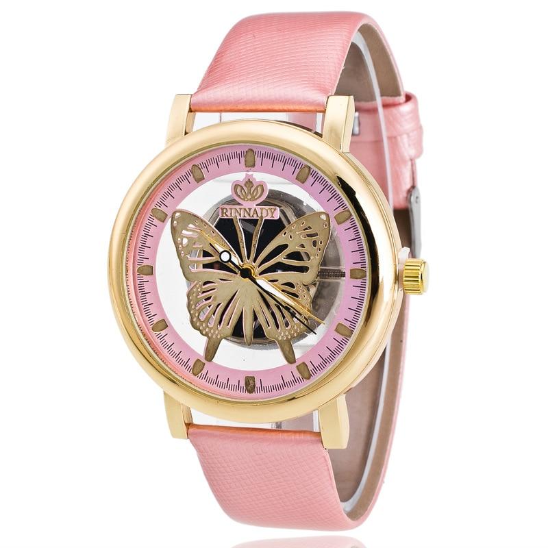 New Arrival Double Side Hollow Ladies Watch Butterfly Quartz Clock Timer Armbandsur för kvinnor relogio feminino