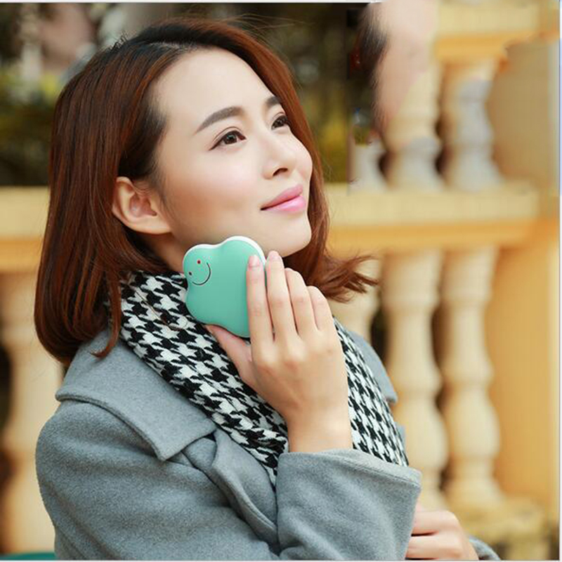 ФОТО High Quality USB Mini Rechargeable Hand Po Portable Heater Hand Warmer 3600ma Mobile Power Supply Power Bank DC 5V