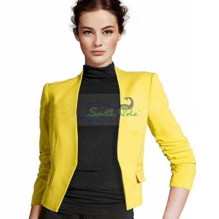Popular Women Yellow Blazer-Buy Cheap Women Yellow Blazer lots ...