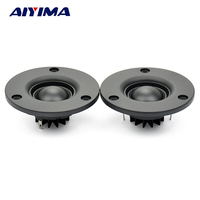 Aiyima 2PC 74mm HIFI Tweeter 6ohm 60W 25 Core Silk Audio Speaker Aluminum Radiator N40 Strong