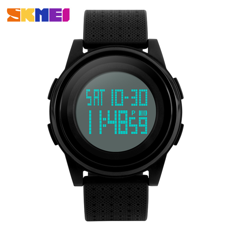 <font><b>SKMEI</b></font> Ultra Thin Men LED Digital Watch Outdoor Sports Watches Fashion Alarm Wristwatches Waterproof Clock Relogio Masculino <font><b>1206</b></font> image
