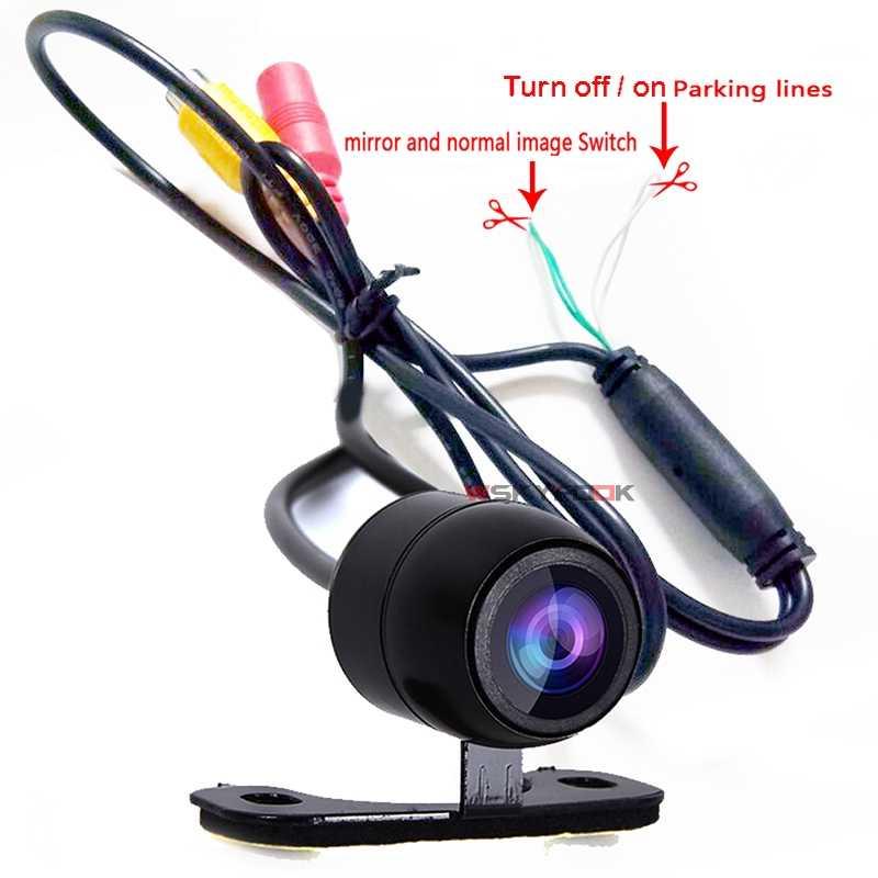 Caméra de vue arrière universelle | 600 ligne 180deg, CCD HD vsion nocturne, caméra inversée pour voiture, sauvegarde du contrôle arrière du stationnement, caméra frontale universelle, étanche