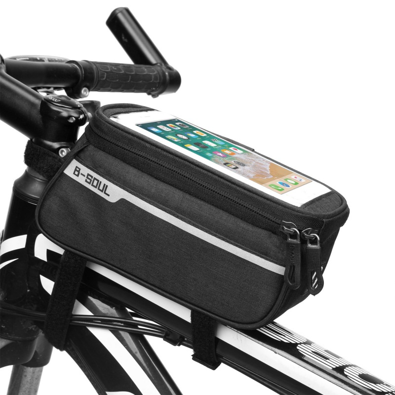 Waterproof Bicycle Front Tube Bag Cycling Accessories Frame Front Bags Cell Mobile Phone Case 6inch Phone Holder Bike