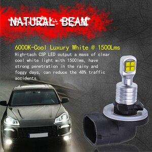 Image 3 - 2pcs 1500 Lumens CREELED 40w H27 881 LED Car Fog Light Bulbs Day Running Light White Waterproof IP68 H27W/2 Led For HYUNDAI