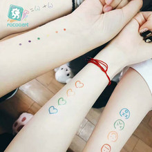 Colorful Waterproof Rainbow Expression Tattoo Sticker