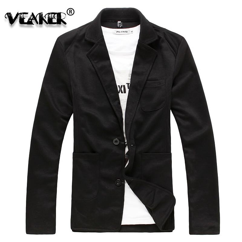 2018 Autumn Men's Casual Knitted Suit Blazer Male Slim Suit Jackets Business Clothes Black/Grey Top Quality 2XL