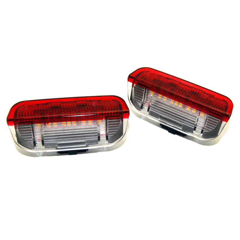 KAHANE 2x LED Mobil Pintu Cahaya Di Bawah Pintu Peringatan Cahaya - Lampu mobil - Foto 4