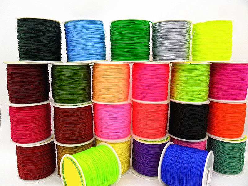 Braid Nylon Cord+0.8mm Rattail Satin  Thread +100m/roll Jewelry Accessories Macrame Rope  Bracelet Chinese Knot String