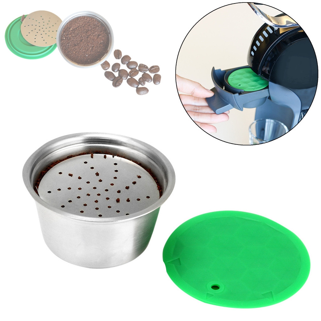 1PC Coffee filter Stainless Steel Reusable Coffee Maker Accessories Kitchen Gadgets Coffee Filter Cup 2O81217