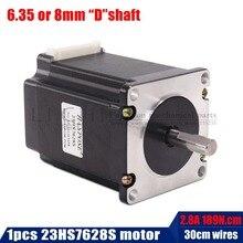 2 фазы, 4-Leads 20Kgcm 76 мм CNC Nema 23 шаговый двигатель, 3d принтер 23hs7628 23hs8430 для 3D печатных деталей, медицинский промышленный