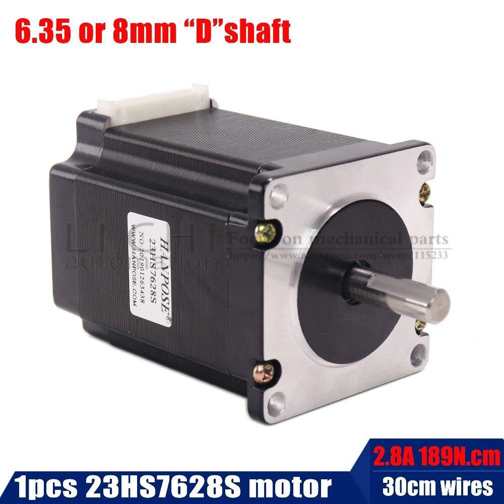 2 phase, 4-Leads 20Kgcm 76mm CNC Nema 23 Stepper Motor , 3D Printer 23HS7628S for 3D Printed Parts M