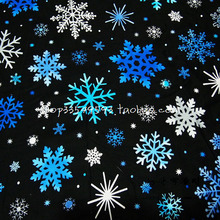 Width 140cm Christmas fabric 100%Cotton Fabric Patchwork Christmas Snowflake Printed Sewing Fabric Material Diy Clothing Dress