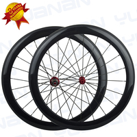 Yuan An front & rear 50*25mm width carbon clincher wheelset carbon wheels carbon triathlon bicycles carbon wheels