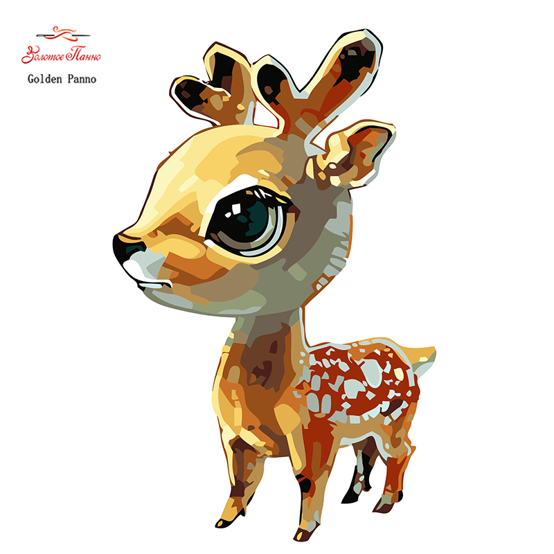 Package Trend Mark Golden Panno,needlework,diy Cross Stitch,sets For Embroidery Kit 14ct Unprinted Young Deer Cross-stitching,christmas 1010 Reliable Performance Home & Garden