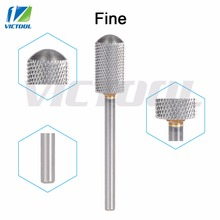 Victool Tungsten Steel Nail Bits Fine Grit Smooth Round Top For Electric Manicure Pedicure Machine Grinder Nail Drill File 08