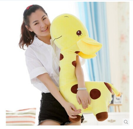 large 80cm lovely cartoon giraffe plush toy doll,throw pillow, Christmas gift b4537 free shipping about 60cm cartoon totoro plush toy dark grey totoro doll throw pillow christmas gift w4704