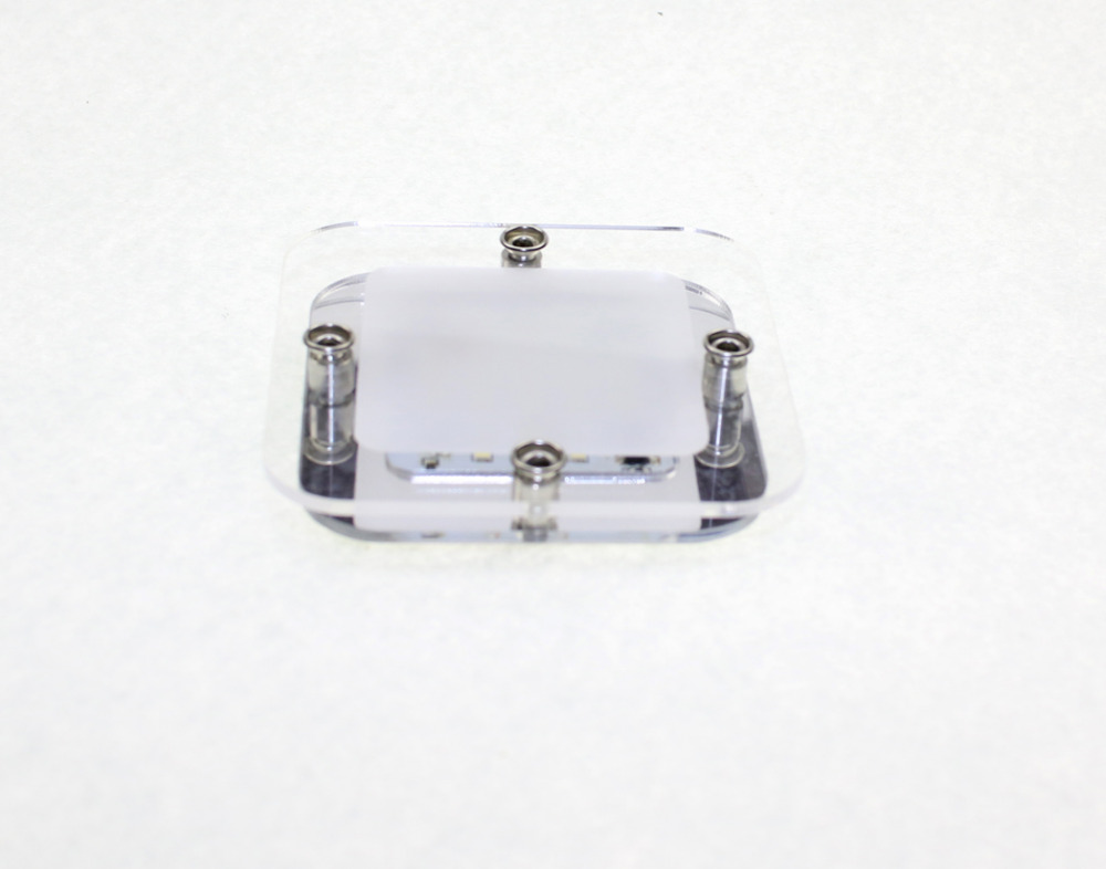 Jauns LED lampa 12V DC balta / silti balta LED kristāla jumta griestu gaismas karavāna / RV / kemperu / jūras