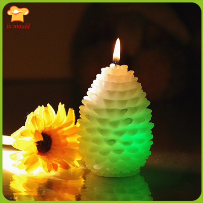 Christmas 3D pinecone candle silicone mould handmade soap mold cake decoration moldS