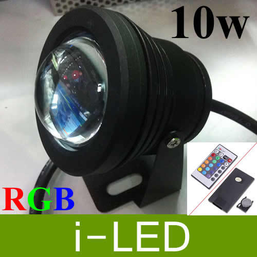 Led Underwater Lights 10pcs/lot 10w 12v Rgb Led Underwater Light 1000lm Waterproof Ip68 Flood Lamp With Convex Glass Lenses 3 Years Warranty