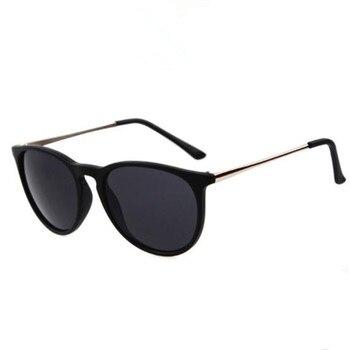 Vintage Retro Mirror Erika Sunglasses Women Brand Designer Cat Eye Sun Glasses Leopard Protection Mirrored 4171 zonnebril dames