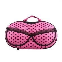 10pcs( ASDS Portable Organizer Case Bag for Underwear Lingerie Bra Protect EVA Fuchsia