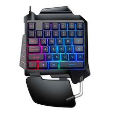 цена на G92 Wired Single-handed Keyboard Mechanical Hand Feels Keyboard Playing Games Compatible Professional Competitive Game Keyboard